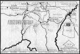 (Crossing of the Fathers) (Ute Ford) Map showing where/how Mormon pioneers came down to Arizona...